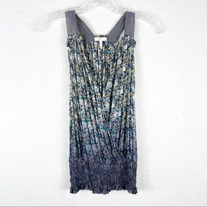 Joie Silk Floral Wrap Style Ombré Blouse
